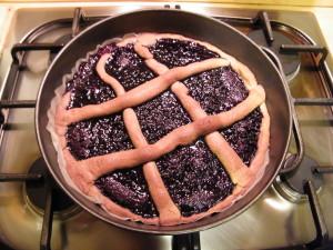 crostata farina di castagne integrale confettura di sambuco ricetta