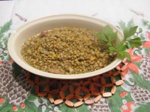 lenticchie colfiorito ricetta natalizia minestra semi di cumino pancetta