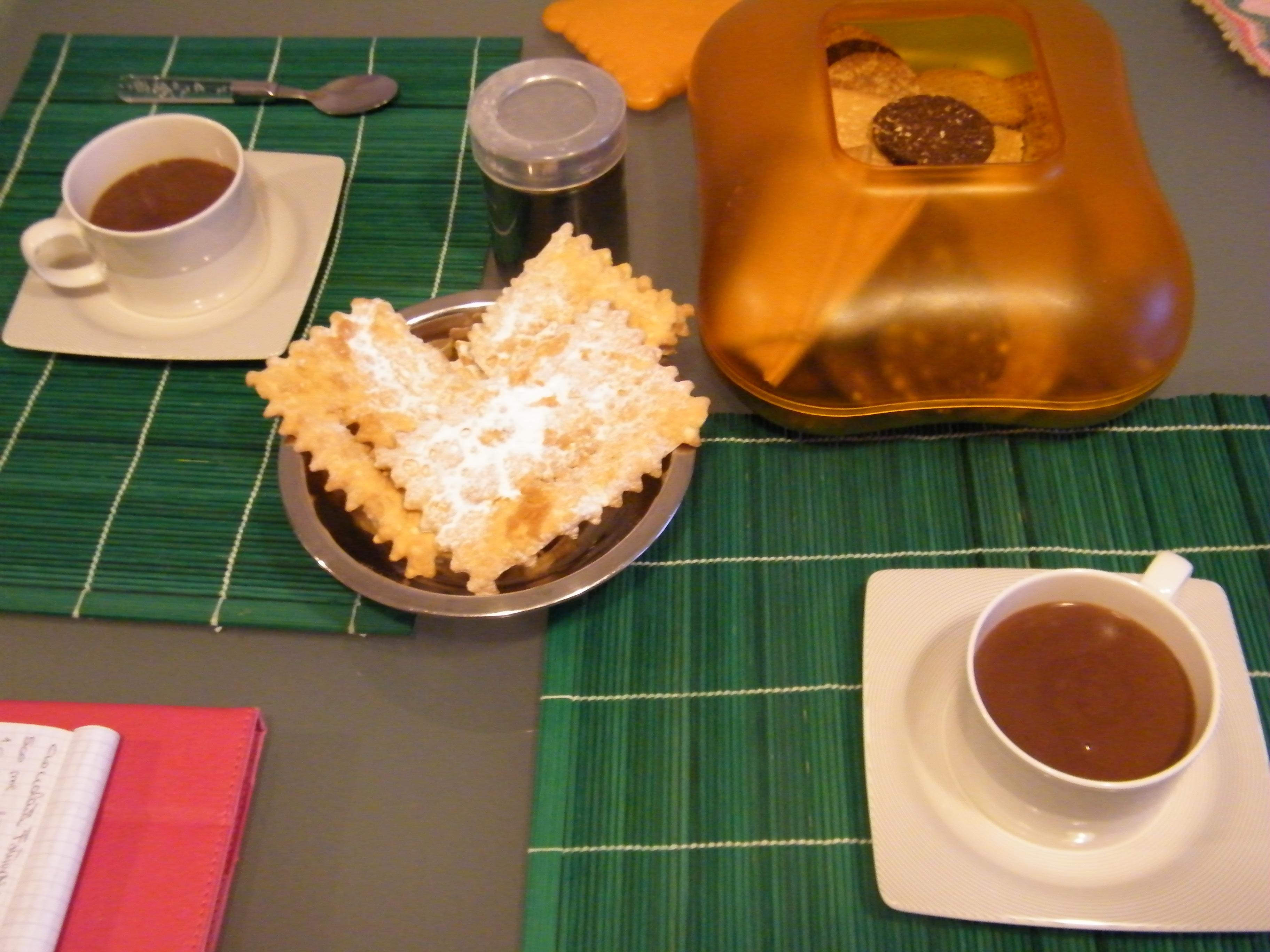 cioccolata al peperoncino in tavola