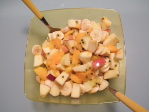 macedonia ricetta bergamotto mela ambrosia maracujà mango banana