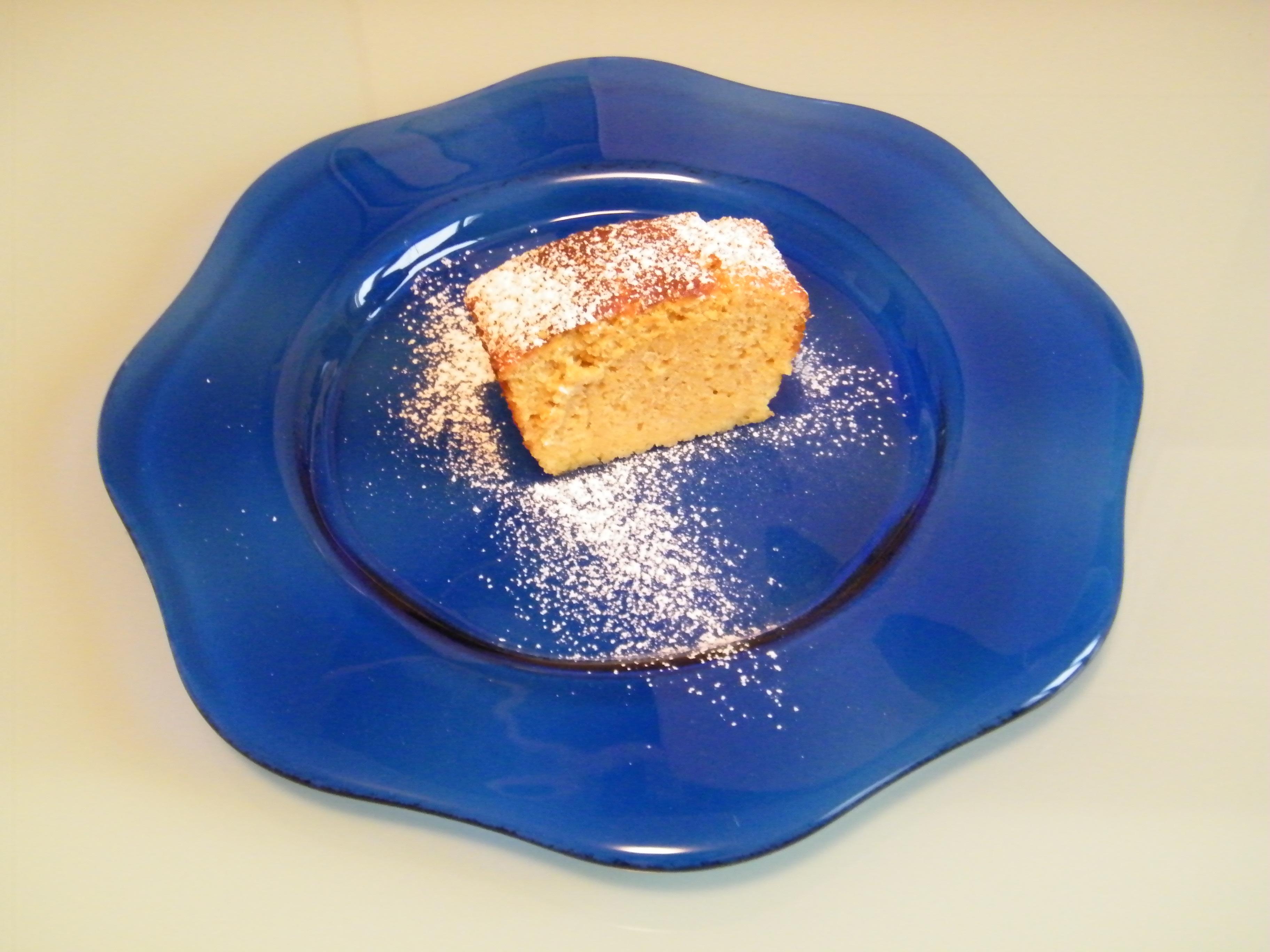 plumcake all'arancia piatto