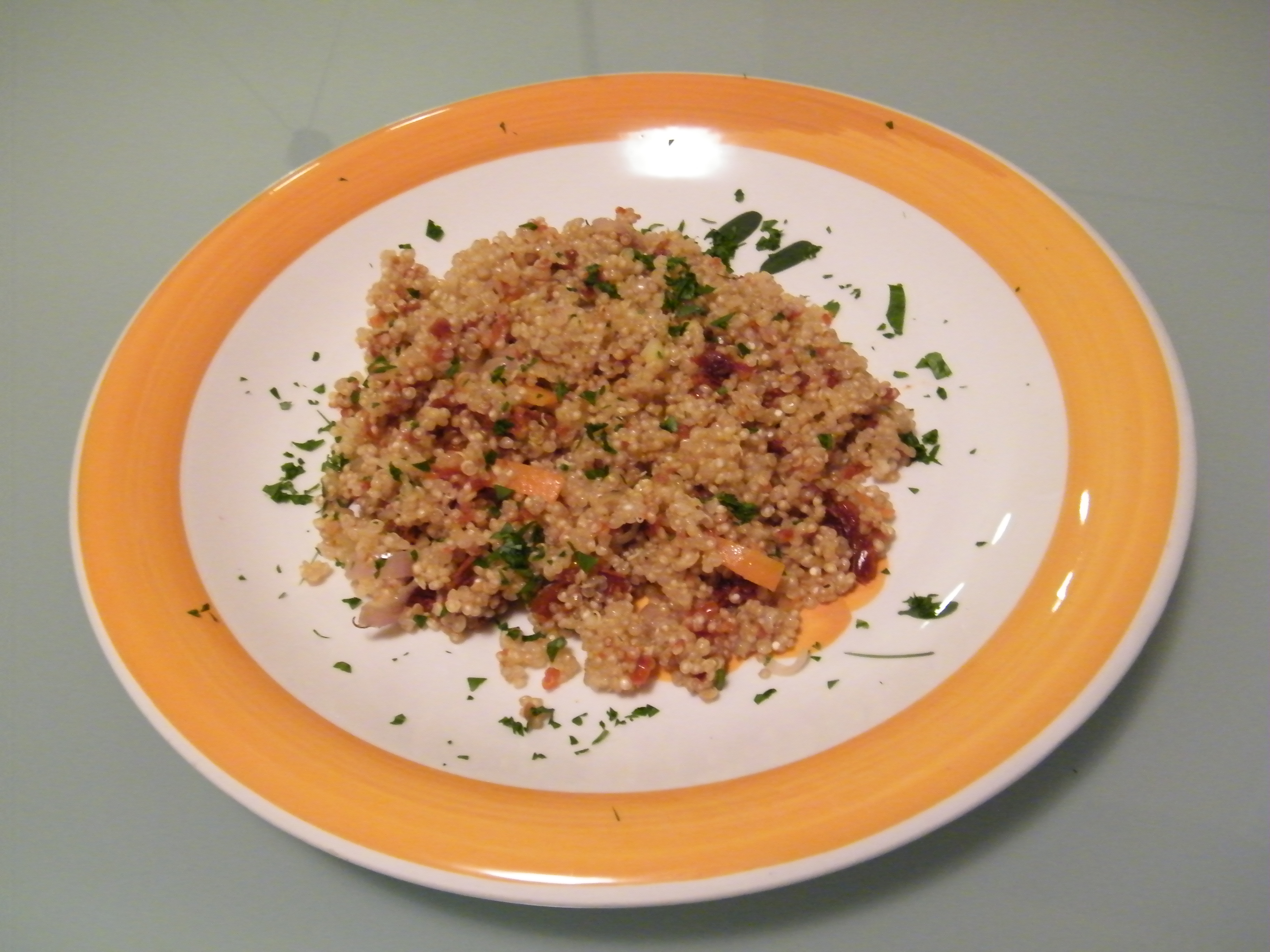 quinoa al pesto rosso